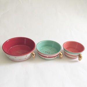 anthropologie sugar cookie ceramic measuring cups